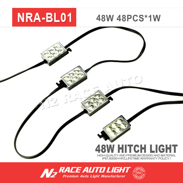 superduty 8x48 led truck pick-up led Area rear bed projector lens light system kit white