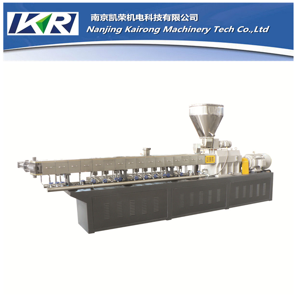Screw Segment Compounding Twin Screw Extruder Filler Masterbatch Pellet Machine