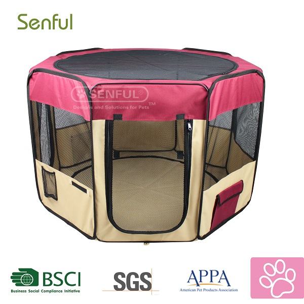 Folding playpen for pets puppy playpen