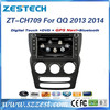 ZESTECH OEM 7 inch 2din high-tech car dvd radio for chery NEW QQ 2013 2014 car dvd radio with GPS/Bluetooth/A8 chipset