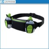 2015 new products elastic running hydration belt with 2pcs water bottles waist bag