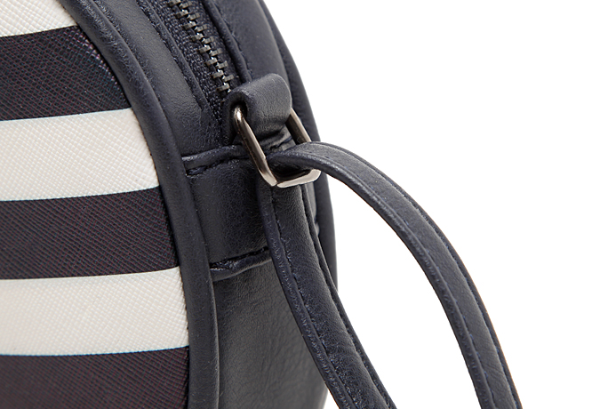 Zebra style round vintage leather messenger bag ISO9001:2008 Factory