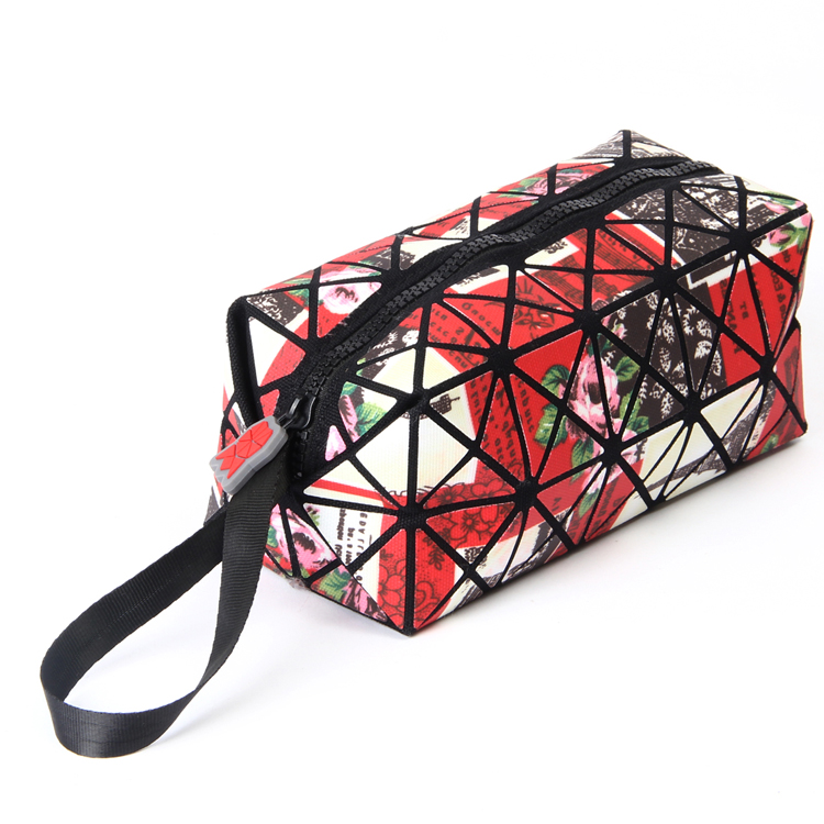 New Brand Multifunction Travel Cosmetic Bag Flash Diamond Leather Makeup Bags