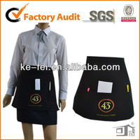 traditional Waitresses half waist Uniform apron with divisional pockets