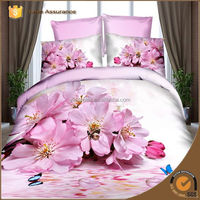 Dropship 2016 Spring Home Textile bedding set Floral embroidery 3D Flower 4 pcs set bed sheet/duvet cover king/queen