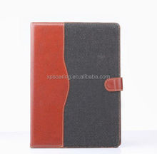PU leather case with card slots and stand for ipad 6, protective case for ipad air 2