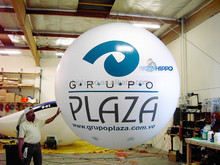Inflatable White Round air Balloon for advertising