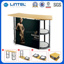 High quantity folding promotion table for display with shelves