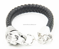 New Fashion Design Closed Clasp Handmade Leather Bracelets For Men Wholesale