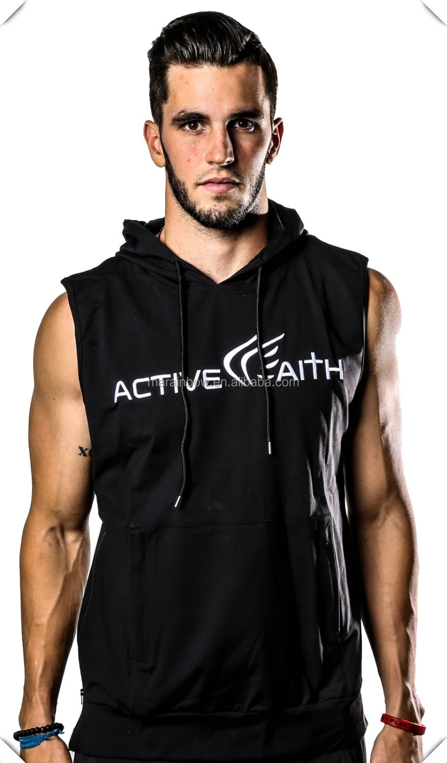 High Quality fitness Clothing Manufacturer Men's sleeveless hoodie performance Shirt Fitness gym Apparel custom For men