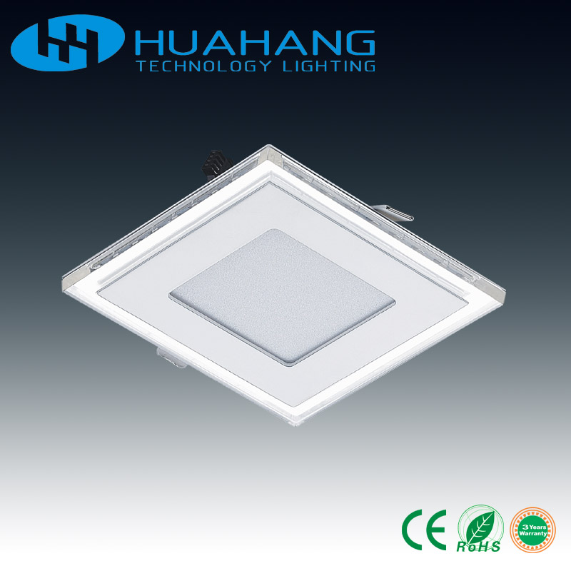 factory price led ceiling panel 6w 12w 18w 24w glass panel light frameless battery powered solar led