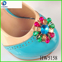 wholesale clip on high heels shoes decoration for ladies footwear