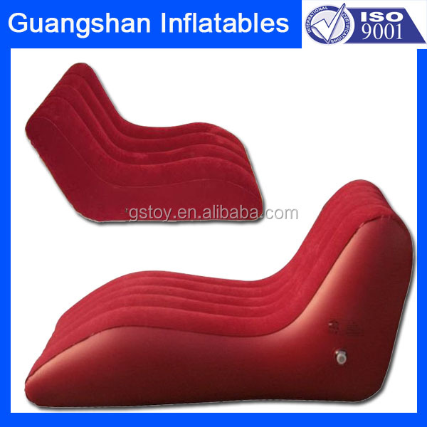inflatable flocking sex chaise lounge sofa bed
