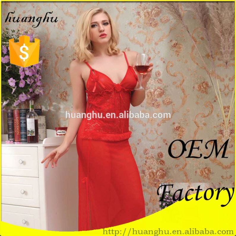 Factory price comfort women in silk satin lingerie