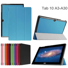 Flip Leather protective case cover For Acer Iconia Tab 10 A3-A30 A3 A30 10.1 inch tablet case