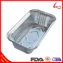 650 ml Takeaway Microwave Food Serving Aluminum Foil Storage Container With Lid