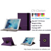 New Products 360 Degree Rotating Flip Stand PU Leather Protective Case For iPad Pro 9.7 inch With Smart Function, Dark Purple