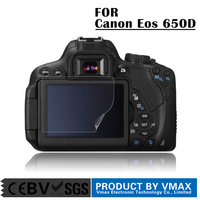 Air bubble proof/weak-glue/washable 99% high transparant PET screen protector for Canon Eos 650D