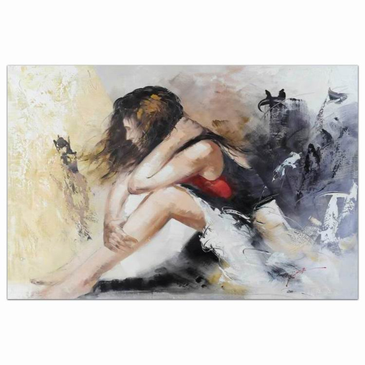 modern woman oil painting hot sex images indoor decorativ oil painting on canvas