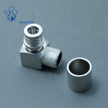 RF Coaxial QMA Male Plug Right Angle Crimp Connector for LMR400 RG8 Cable