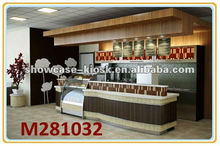 Food kiosk counter design in mall for sale