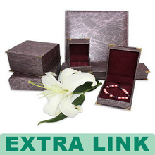 New style luxury custom recycled jewelry gift box with rigid tray certificated by ISO and BV