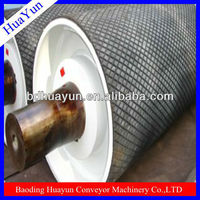 24 inch dia anti-slippery belt conveyor drive pulley with vulcanised rubber lagging