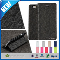 C&T Wholesale fashionable high quality leather cell phone case for iphone 6 plus accesssories