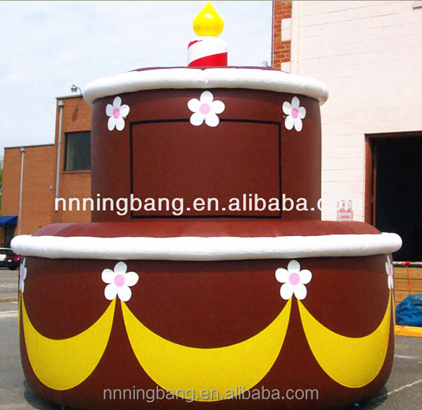 NB Hot sale Giant inflatable birthday cake for wedding