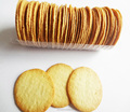 Wholesale crisp semi-hard round thin biscuits