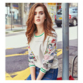 Autumn fashion wholesale gauze embroidery round collar short casual woman's hoodie