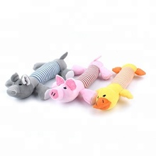 3 Designs Dog Toys Pet Puppy Plush Sound Dog Toys Pet Puppy Chew Squeaker Squeaky Plush Sound Duck Pig Elephant Toys