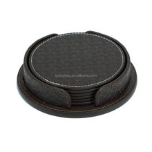 Personalized Faux leather Cup mat for promotion