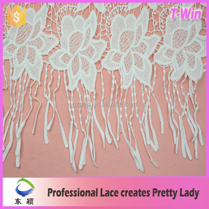 2016 milky yarn lace fabric offwhite lace fabrics white color with eyelet