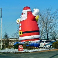 promotion inflatable christmas santa /oxford cloth santa/inflatable santa claus for sell