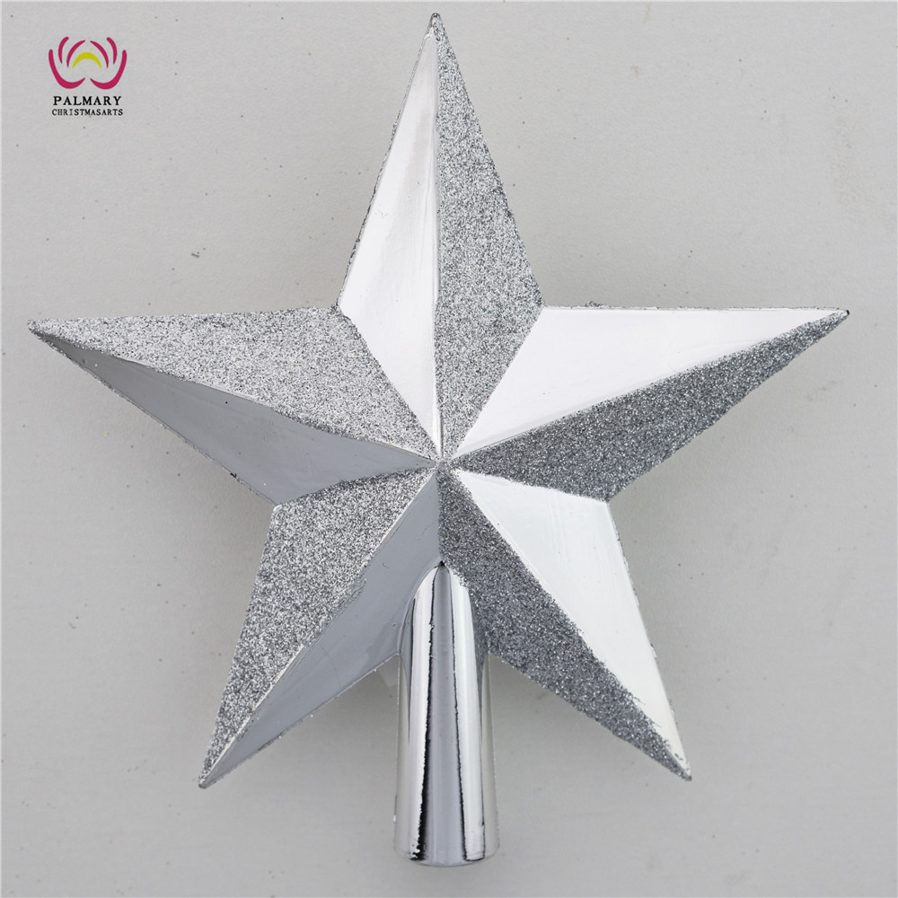 hotsale ! Novelty plastic star christmas tree toppers ,personalized christmas tree pendant