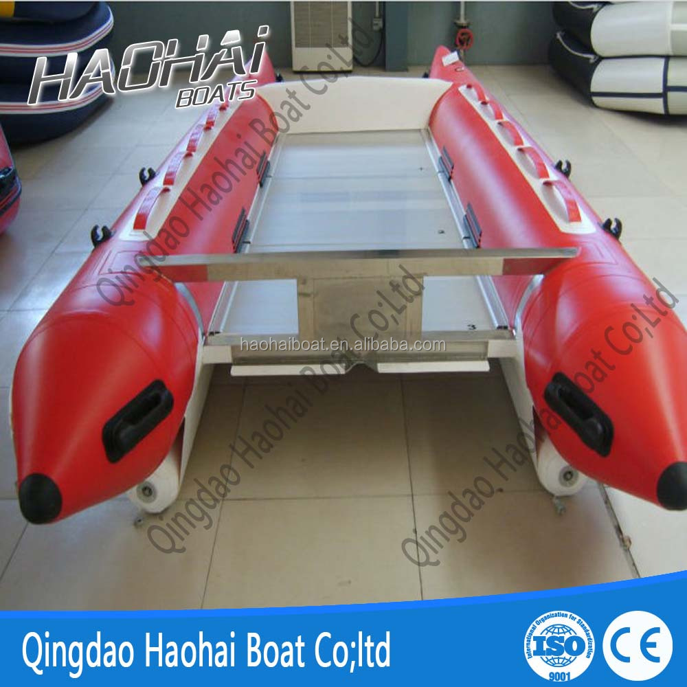 430cm 6 persons catamaran racing high speed boat
