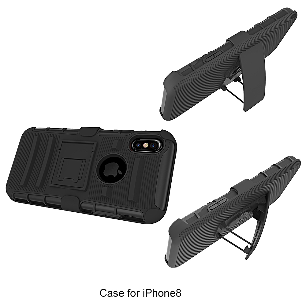 OEM support Military 3 in 1 Belt clip Stand PC Silicone Mobile phone cover for Moto G5s Plus
