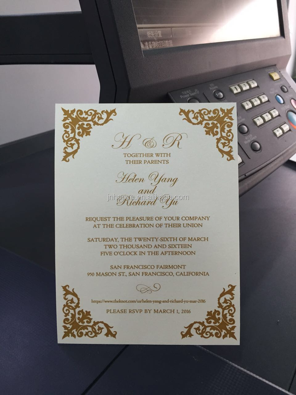 Chinese customized luxury flower laser cutting wedding invitation 292990063639612736g stopboris Image collections