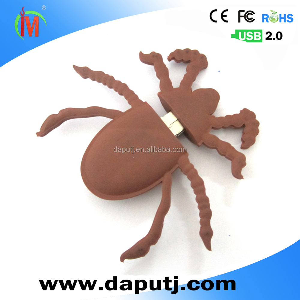 spider shape usb flash drive animal pen drive 2.0 usb common use for various system big spider stick