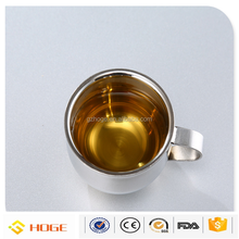 High Quality Stainless Steel Double Wall Espresso cups With Custom logo Printing