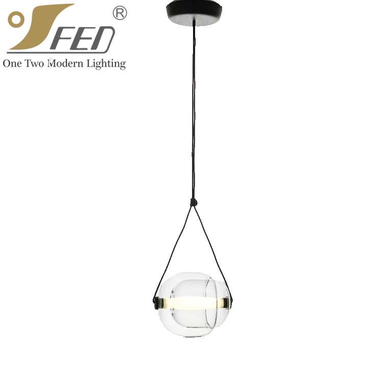 2017 china wholesale modern decoration home glass pendant light with UL listed