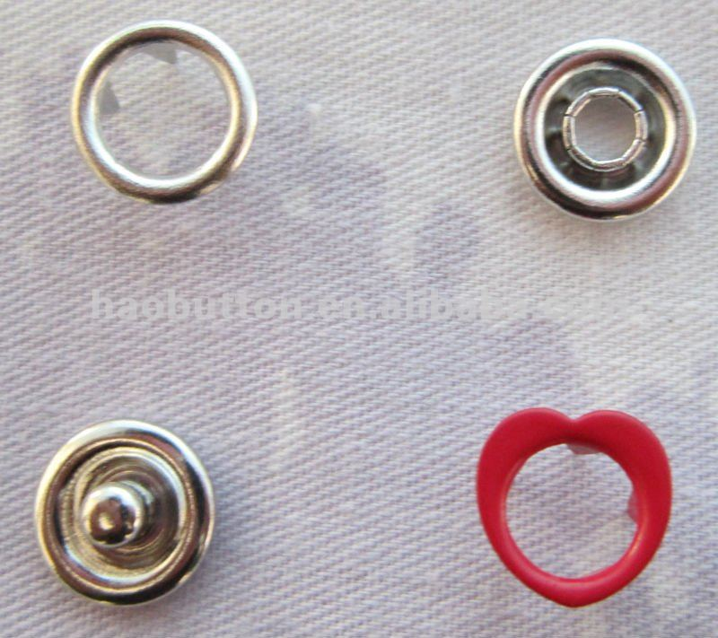 Large supply all kinds of Eco-friendly hart-shape prong snap button
