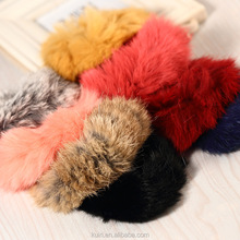 Real Rex Rabbit Fur Elastic Hair Bands hair bands elastic ties ponytail holder hair accessories for women