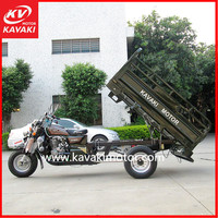 Iraq Popular 150CC Air-cooled Engine Cargo Trailer With Foldable Cargo Box For Goods Transportation