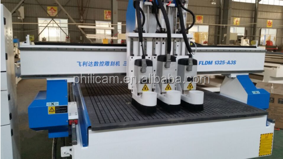 Auto tool changer multi spindle cnc router