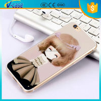 Super slim special cartoon design sexy girl mobile phone case for iphone 6