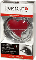 PROFESSIONAL COSMETIC RED EYEBROW HEART TWEEZERS