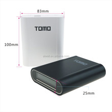 China Suppliers New Products TOMO 18650 4pcs Battery Power Bank Cover Box, TOMO V8-4 New Version