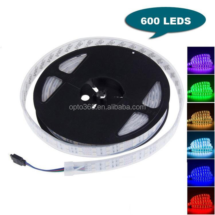 Waterproof 5m/reel Led Strip Double Row RGB 120 leds/M 5050 led Strip 600leds Flexible Car Lights